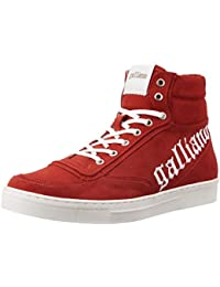 Galliano Men's Red Leather Sneakers