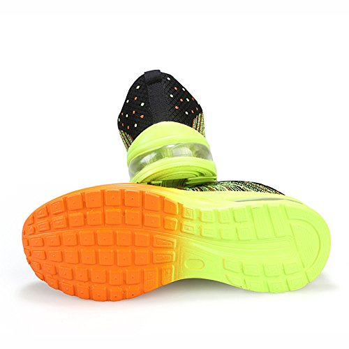 Peggie House,Chaussures de Sport Homme Noir et Vert