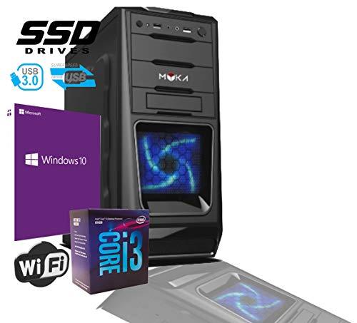 Pc Desktop INTEL I5 SIX CORE 8th gen Up To TURBO 4,0 GHZ Windows 10 PRO 64 BIT ORIGINAL CASE ATX USB 3.0 PSU 500W RAM 8GB DDR4 SSD 240GB Video UHD 4K USCITE HDMI DVI VGA WIFI 300MB DVD RW LG 500-gb-digital-multimedia