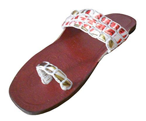Tradizionali Pantofole Donna Creazioni In Pelle Kalra In Etnici Indiano Marrone vaAwIFFq