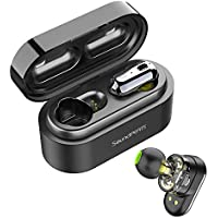 Auriculares Inalámbricos Bluetooth 5.0 TWS SoundPEATS Truengine Mini True Wireless Cascos IPX6 con Micrófono Dual Drivers Audífonos In-Ear Manos Libres(Negro)