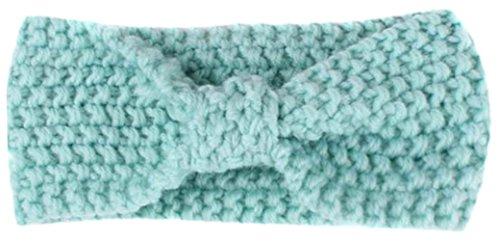 Eozy Baby Mädchen Elastic Schleife Stirnbänder Haarbänder Kopftuch Hellblau