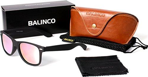 erte Nerd Rubber Sonnenbrille im Set (24 Modelle) Retro Vintage Unisex Brille mit Federscharnier (Black-Rose Mirror) (Nerd Outfits Für Männer)