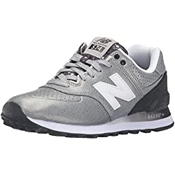 New Balance, Damen Sneaker, grau/schwarz, 41 EU (7.5 UK)