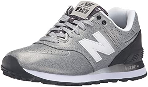 New Balance, Damen Sneaker, grau/schwarz, 37.5 EU (5 UK)