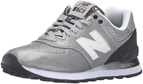 New Balance 574, Scarpe Running Donna, Multicolore (Silver/Black 097), 39 EU