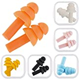 6 Pair Silicone Earplugs Soft Ear Plugs Float Flexible Earplugs for Swimming, Will Reduce Noise When Sleeping, Made of Soft Silicone Comfortable