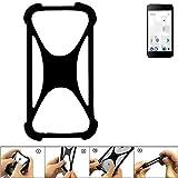 K-S-Trade Handyhülle für Thomson Friendly TH101 Schutz Hülle Silikon Bumper Cover Case Silikoncase TPU Softcase Schutzhülle Smartphone Stoßschutz, schwarz (1x)