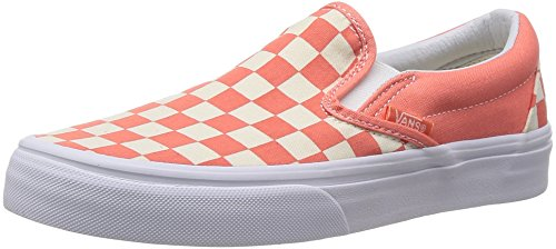 Chaussures Vans – Classic Slip-On (damier) Coral/Blanc 37