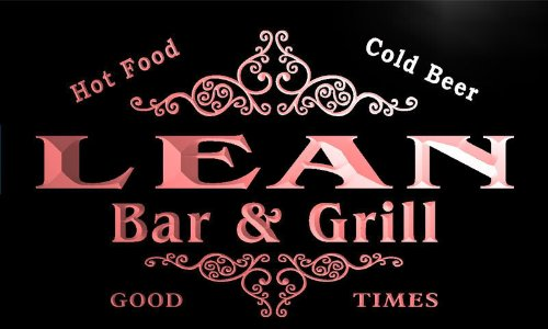 u25783-r-lean-family-name-bar-grill-home-beer-food-neon-sign-enseigne-lumineuse