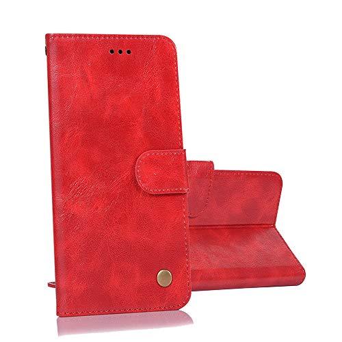 yueer cover alcatel a5 led 5085d,con [portafoglio] [funzione stand] [chiusura magnetica] per custodia in pelle alcatel a5 led 5085d-rosso