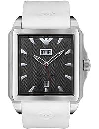 Armani AR0654 - Reloj con correa de acero para hombre, color negro / gris