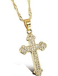 Goldkette mit kreuz  Suchergebnis auf Amazon.de für: Vergoldet - Ketten & Anhänger ...