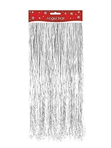 Silver Christmas Xmas Decoration Angel Hair Tinsel Shredded Tinsel Decorate