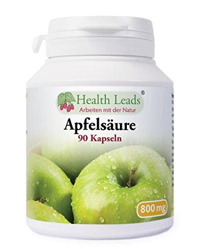 Apfelsäure 800mg x 90 kapseln (100% ohne Zusatzstoffe) - Acid-100 Kapseln