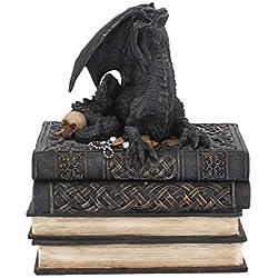 Nemesis Now Secrets of The Dragon - Caja de almacenaje (19 cm, 23 cm), Color Negro