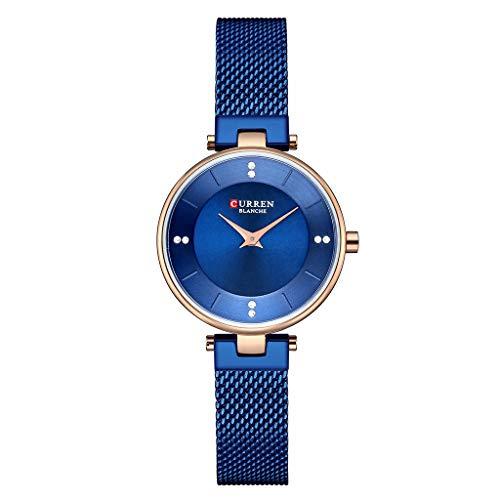 REALIKE Damen Armbanduhren Einfach Mode Keine Nummer Wasserdicht Mesh-Gürtel Uhren Elegant Klassisch Ultradünn Britische Artart und Weise Neue High End Geschäftsuhr Business Freizeit