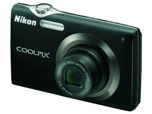 Nikon Coolpix S3000 Digitalkamera (12,0 Megapixel, 4-fach Weitwinkelzoom, 6,7cm (2,7-Zoll) Display) schwarz