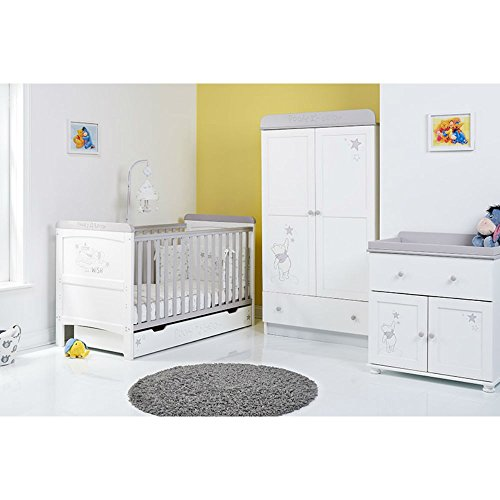 Disney Winnie the Pooh 3 Piece Nursery Furniture Set - Dreams amp; Wishes