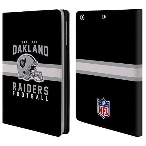 fizielle NFL Helm-Buchdruckerkunst 2018/19 Oakland Raiders Brieftasche Handyhülle aus Leder für iPad Mini 1 / Mini 2 / Mini 3 ()