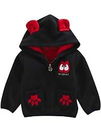 JiaMeng Abrigos cálidos Chaqueta con Cremallera para niños Ropa Interior de Abrigo con Capucha Gruesa de Moda para niños Abrigo Grueso