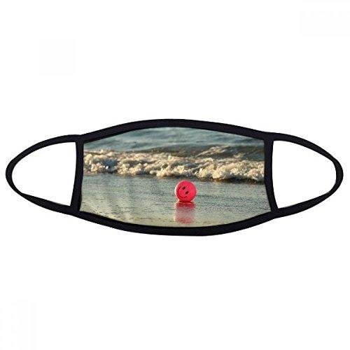 Ocean Sand Beach Smiling Face Emoji-Bild Face Anti-Staub Maske Anti Kalten Maske Geschenk