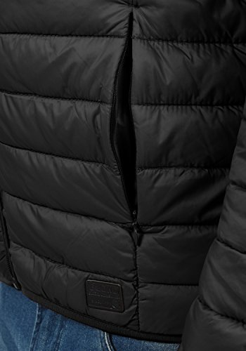 BLEND Nils Herren Stepp-Jacke Nylonjacke Stepp mit Stehkragen Black (70155)