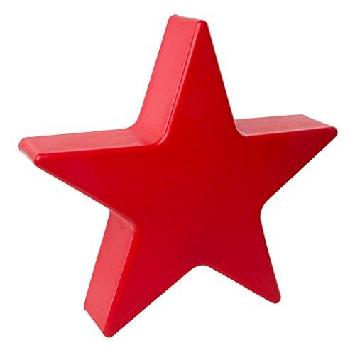 8 seasons design | Rote Dekoration Stern Leuchte Shining Star mini (E27, Ø 40 cm, UV-resistent, winterhart, Innen- & Außendekoration, Weihnachten) rot
