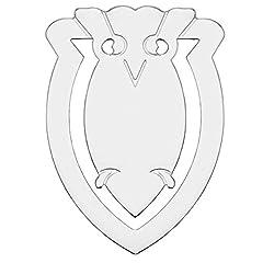 Idea Regalo - Segnalibro Fermasoldi gufo 3,5x 5cm Argento placcato argento in ottima qualità