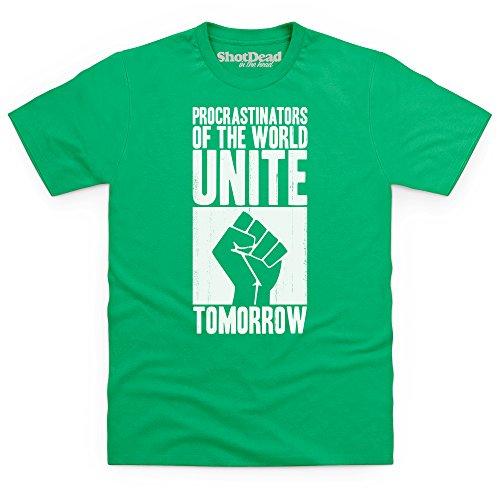 Procrastinators T-Shirt, Herren Keltisch-Grn