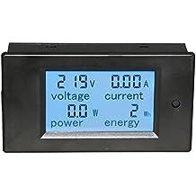 Yeeco Energy Meter Multimetro Digitale AC 80-260V 100A Voltmetro di