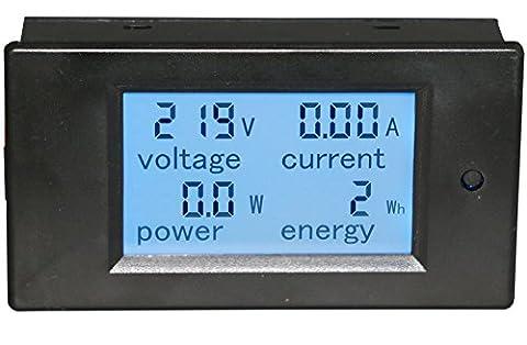 Yeeco Multimètre Numérique AC 80-260V 100A Voltmètre Ampèremètre Voltage Ampérage Puissance Energy Meter Volt Amp Testeur de Tension Moniteur de Courant Numérique écran LCD Volts Amp Mesure avec Transformateur CT
