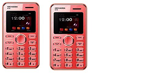 Kechaoda K116 Combo (2 Red color) Credit card size Mobile Phone