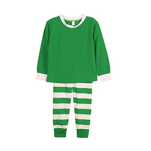 PanDaDa Striped Weihnachten Familie Passenden Pyjamas Sets Weihnachten Pyjama Set Nachtwäsche (Pjs Familie Ganze Die Für)