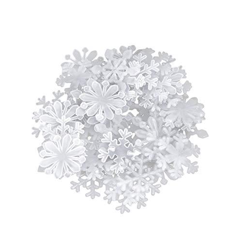 Rrunzfon 3D Copo Nieve Luminosos Fluorescentes Copo