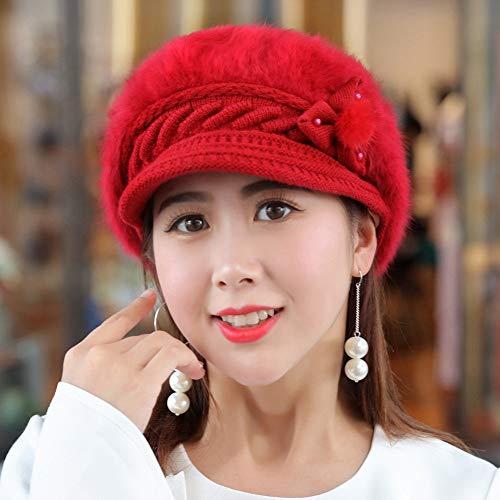 SED Sombrero De Mujer De Las Señoras De Invierno Más Gorro De Terciopelo  Cálido Orejeras Sombrero 738816f5254