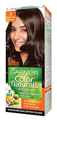 Garnier Color Naturals Shade 3 Darkest Brown, 70ml + 40g