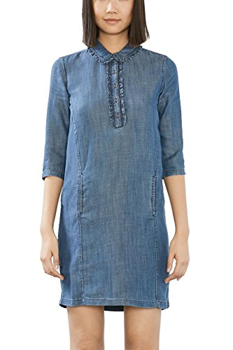 ESPRIT Damen Kleid 017EE1E003, Blau (Grey Blue 420), 44