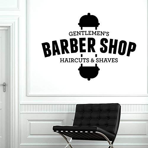 DIY Vinyl Wandtattoo Herren Friseur Haarschnitte Rasuren Schönheitssalon Dekor Wandaufkleber Tapete Removable Poster 80 * 57 cm