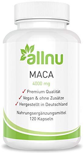 Maca Kapseln hochdosiert 4000 mg Vegan ohne Zusätze von allnu 120 Kapseln