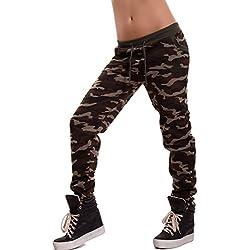 Toocool - Pantalón - tiro caído - para mujer camuflaje XL