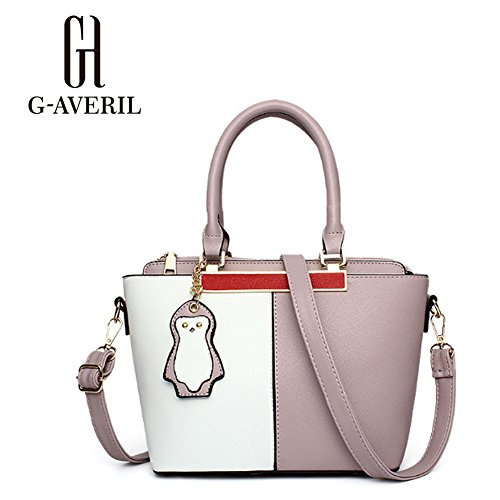 G-AVERIL, Borsa a mano donna Rosa Pink Purple