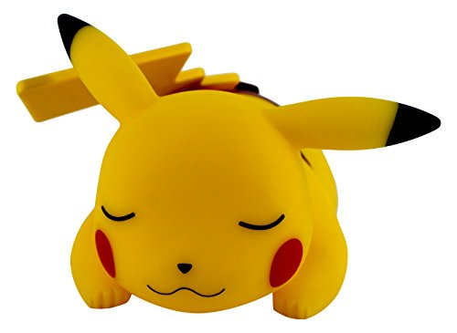 Teknofun-Pokmon-Lmpara-LED-diseo-Pikachu-dormido-25-cm-color-amarillo
