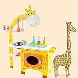 LYXF Kinder Küche Spielzeug Holz Zubehör Für Kind Rollenspiel Kleinkinder (Giraffe)