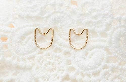 Katze Ohrringe Tier Ohrstecker Gold gefüllt Kitty Schmuck