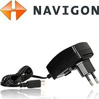 Original Navigon Reiseladegerät/Schnellader für NAVIGON 92,72,70,42,40,20,8410,7310,7210,6310,4310,4350,3310,2410,2510,2310,2210,2110, Max, Easy, Plus, Premium, Live (1000mAh, Mini-USB, A02000005)