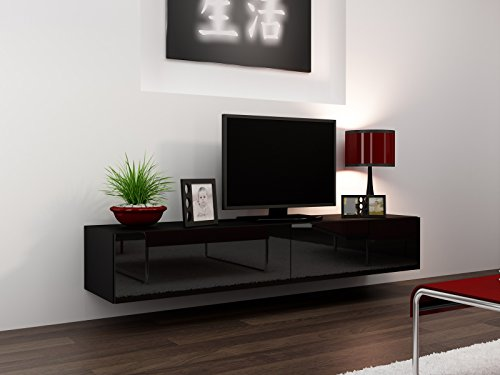 high-gloss-tv-stand-entertainment-cabinet-180cm-floating-wall-unit-7-colours-black