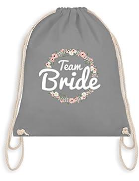 JGA Junggesellinnenabschied - Team Bride Blumenkranz - Turnbeutel I Gym Bag