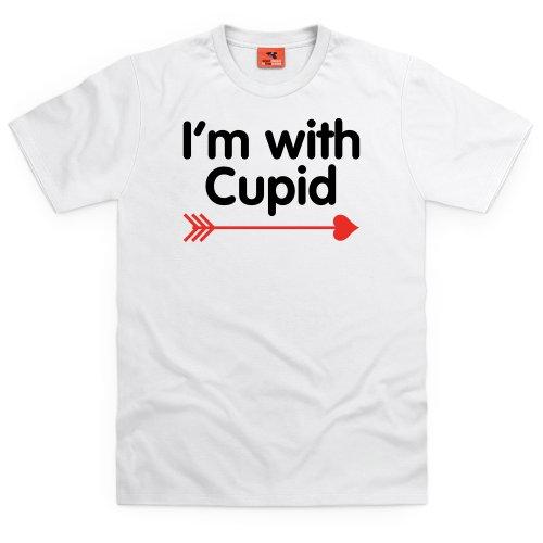 I'm With Cupid T-Shirt, Herren Wei