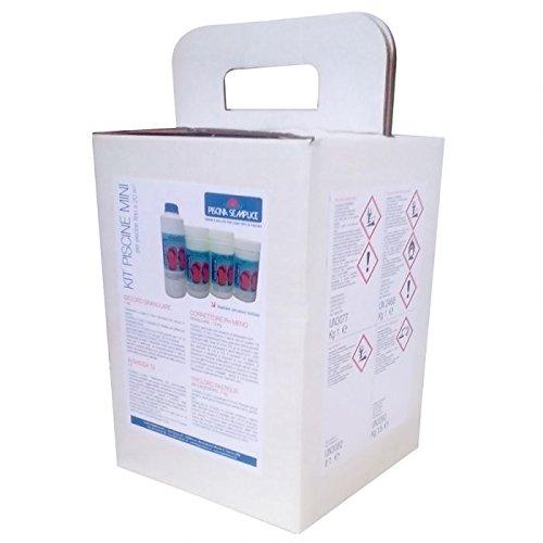 Kit Mix Koffer Aufbewahrung Wasser ohne Chlor für Pools bis 20m³ -